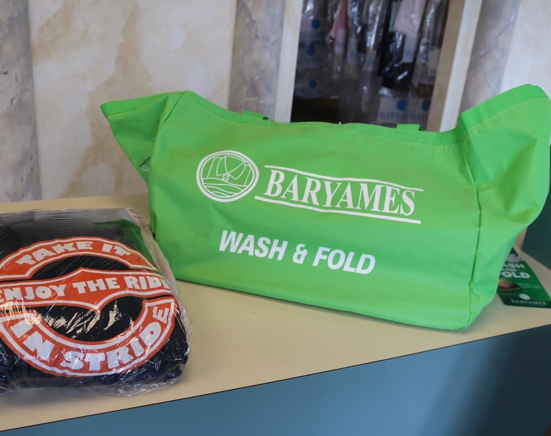 Packaged clothing and wash-n-fold bag